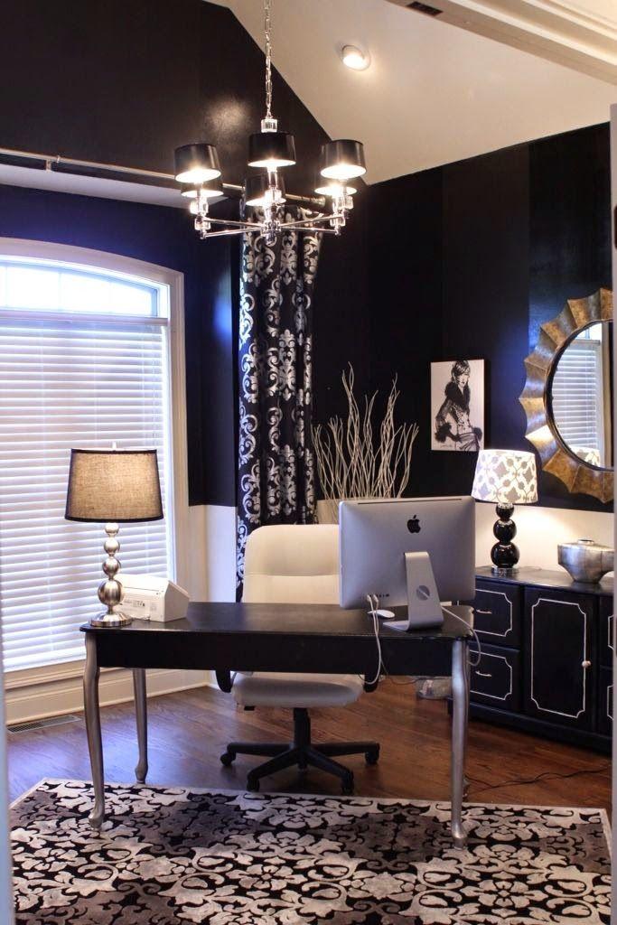 дневник дизайнера: Стиль гламур в интерьере домашнего кабинета. 60 картинок для модниц