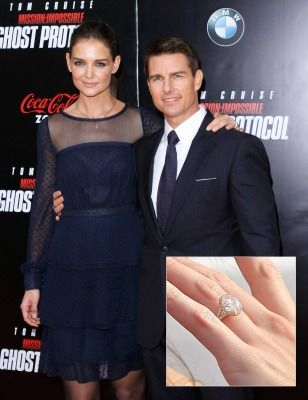 Katie Holmes and Tom Cruise - Most Famous Engagement Rings ...