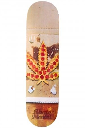 """Skate Mental Pizza Leaf 8.125"""" Deck   #skatedeluxe #sk8dlx #skateboard #deck"""