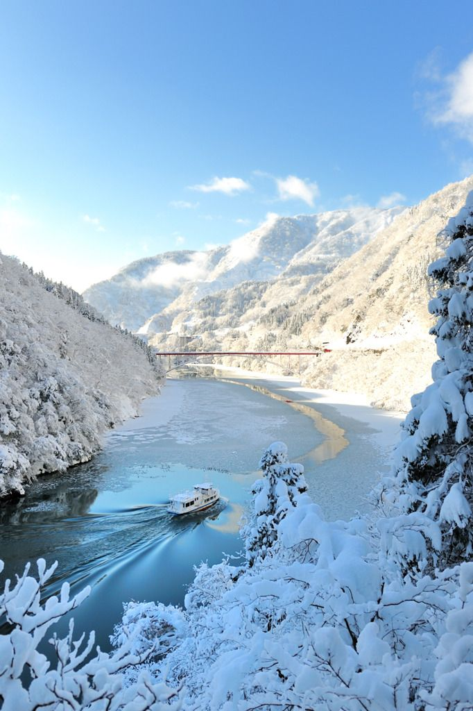 Shougawa, Toyama, Japan  (富山県庄川峡雪景色)