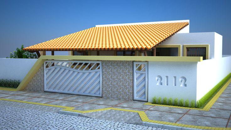 Casas com portões diferentes