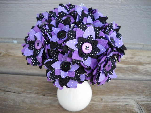 Felt and Button Bouquet Centerpiece