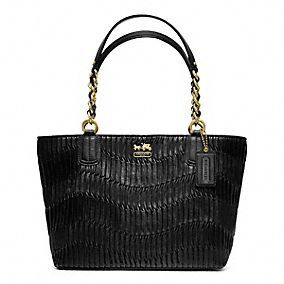 MADISON GATHERED LEATHER TOTE - this gathered leather gives an extra sophistication to this versatile bag