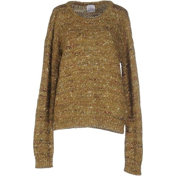 Stella Jean Sweater ($275) ❤ liked on Polyvore featuring tops, sweaters, acid green, woolen sweater, green long sleeve top, green sweater, brown long sleeve top and long sleeve sweater