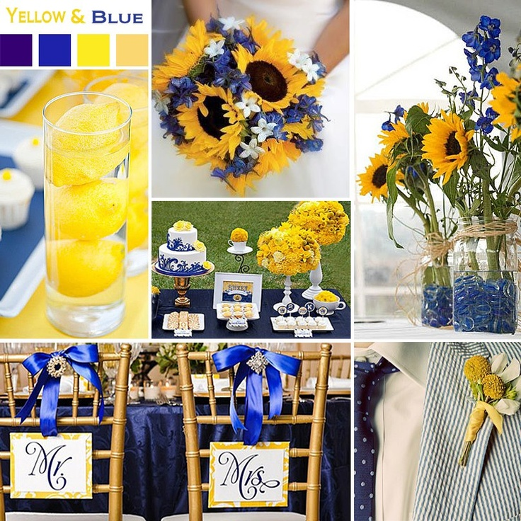 From Exclusively Weddings. These are the colors I want! Starry Night themed!