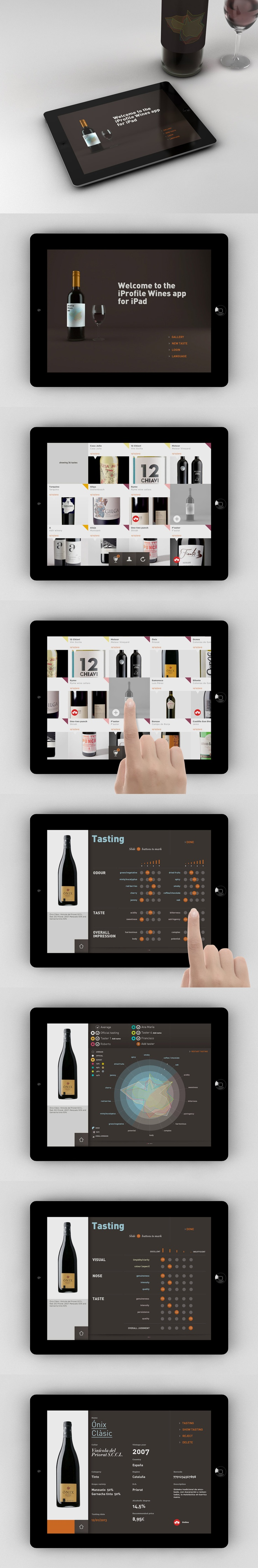 iPad app for wine tasters.