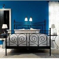 parete blu cameretta