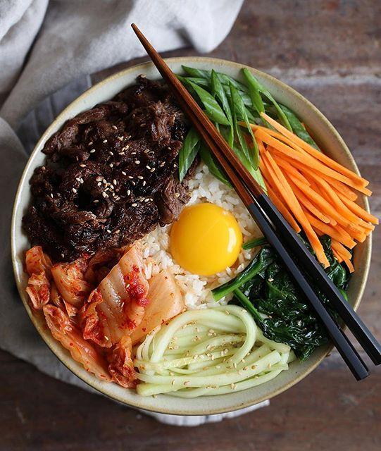 Bulgogi Bibimbap Bowl via @feedfeed on https://thefeedfeed.com/cookingwithcocktailrings/bulgogi-bibimbap-bowl