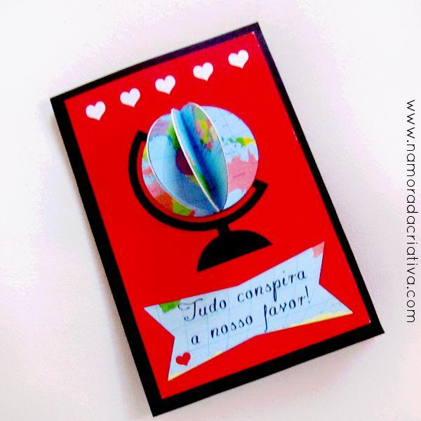 """DIY: Cartão """"O universo conspira a nosso favor"""""""