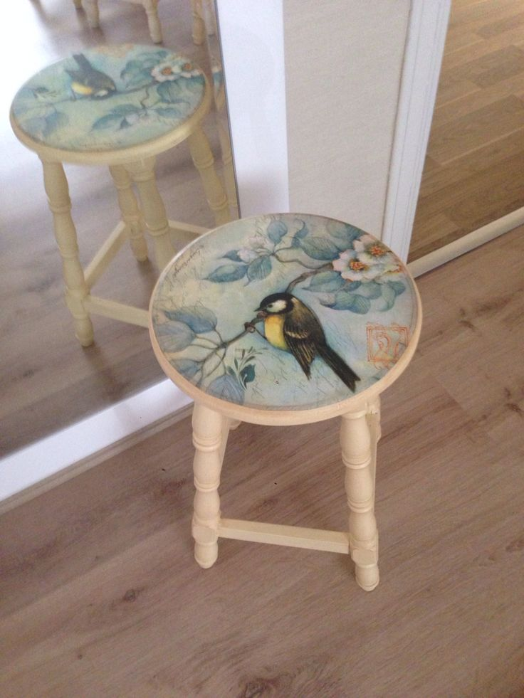 Decoupage Stool