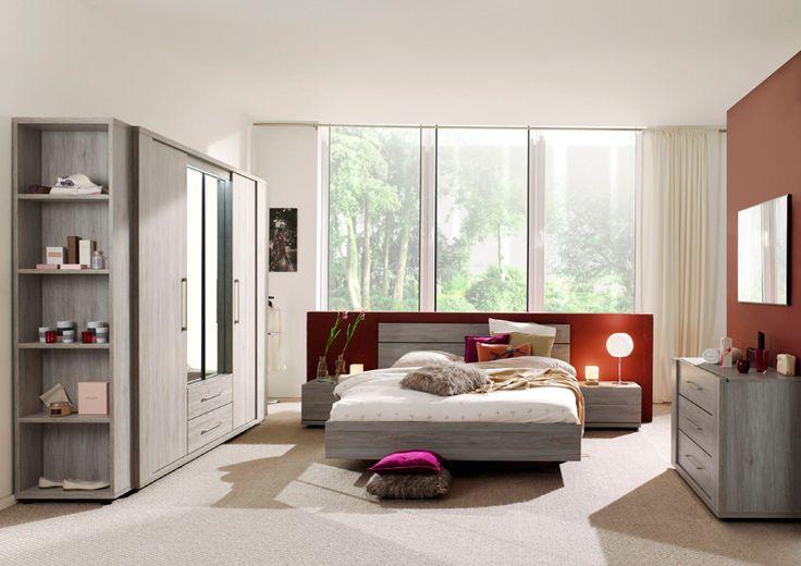 ICHABOD - Cette chambre à coucher contemporaine donne une atmosphère chaleureuse à votre intérieur. L'avantage du style clair est que cette chambre peut se marier facilement avec différentes palettes de couleurs. Essayez-la vous-même | Meubles Toff