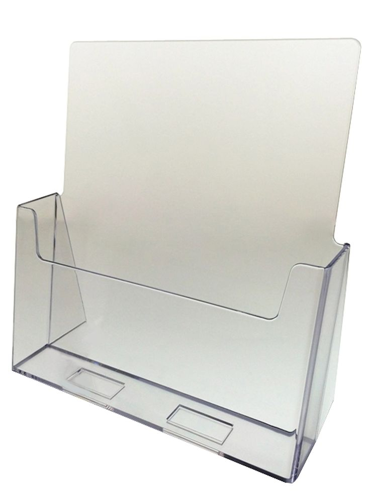 "Marketing Holders 24 Pack Acrylic Brochure Holder for 8.5""w Literature"
