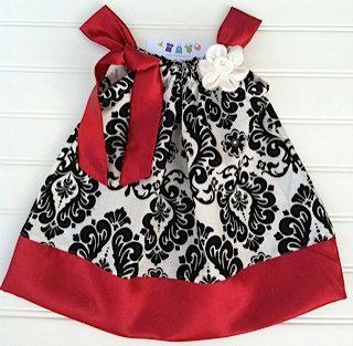 Red Damask Pillowcase Dress Available 03 by BabyThreadsByLiz, $28.00......for Gam's wedding?