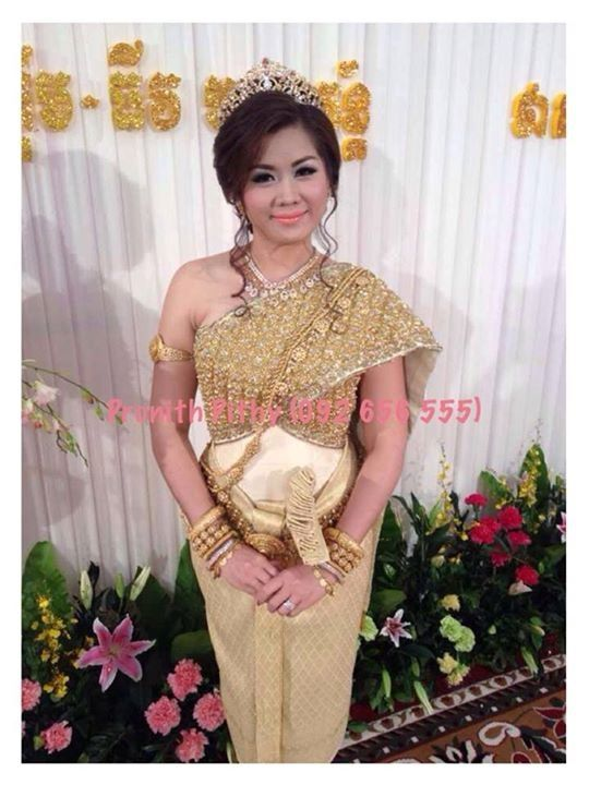 Cambodia wedding dress khmer bride traditional dress for Khmer dress for wedding party