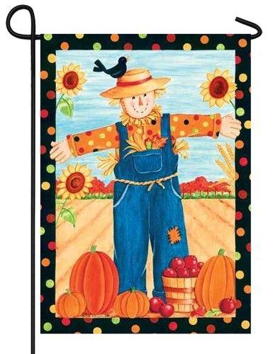 Polka Dot Scarecrow Garden Flag
