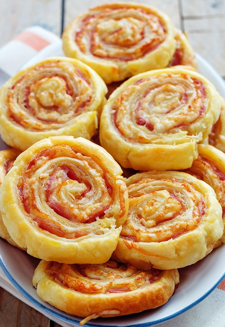 These elegant, and golden bacon and cheddar pinwheels are sure to be a hit at your next party.