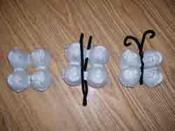 Egg Carton butterfly (you can also make a caterpillar out of egg cartons and pipe cleaner)