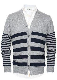 HE BY MANGO - Striped cotton-blend cardigan #FW13 #MENSWEAR