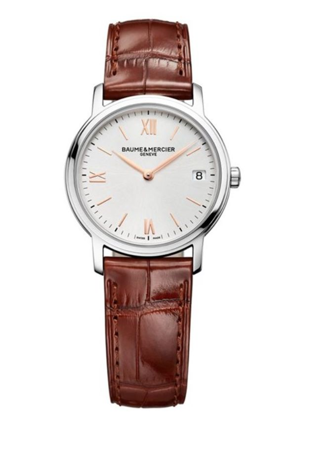 Model:Classima Lady Quartz Ref. M0A10147 Movement:Quartz Gender:Female Complications:Date, Minute Hand, Hour Hand Shape:Round Case Material:Stainless Steel Dail colour:Silver- Coloured Size:33 mm Material:Croco-leather Price:€ 1 350 @colmanwatches