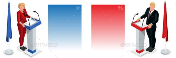 Us Election 2016 Debate Pools Icon Set 02
