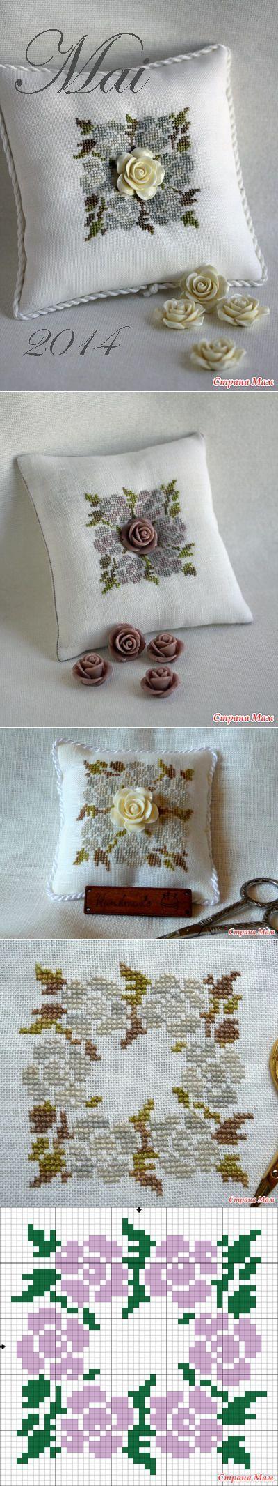 """Decorativo almohada """"Mai 2014"""" - Biskornyu y otros """"krivulki"""" - casa las mamás"""