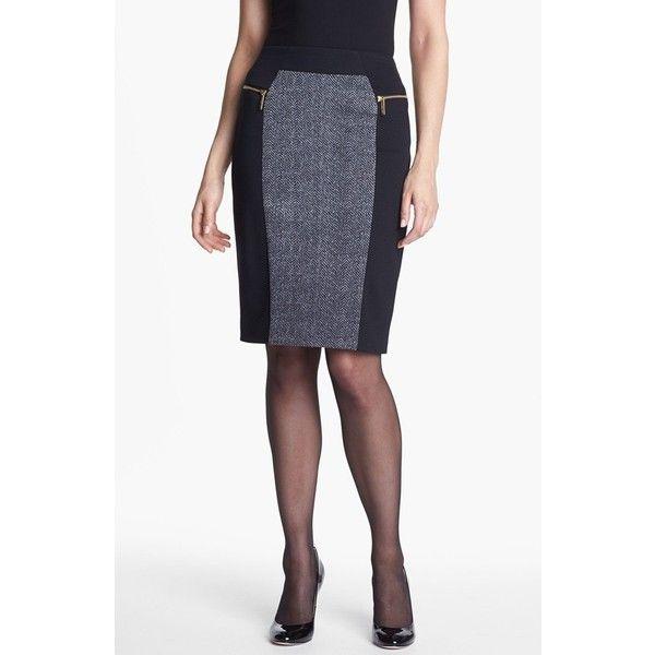MICHAEL Michael Kors Colorblock Ponte Skirt