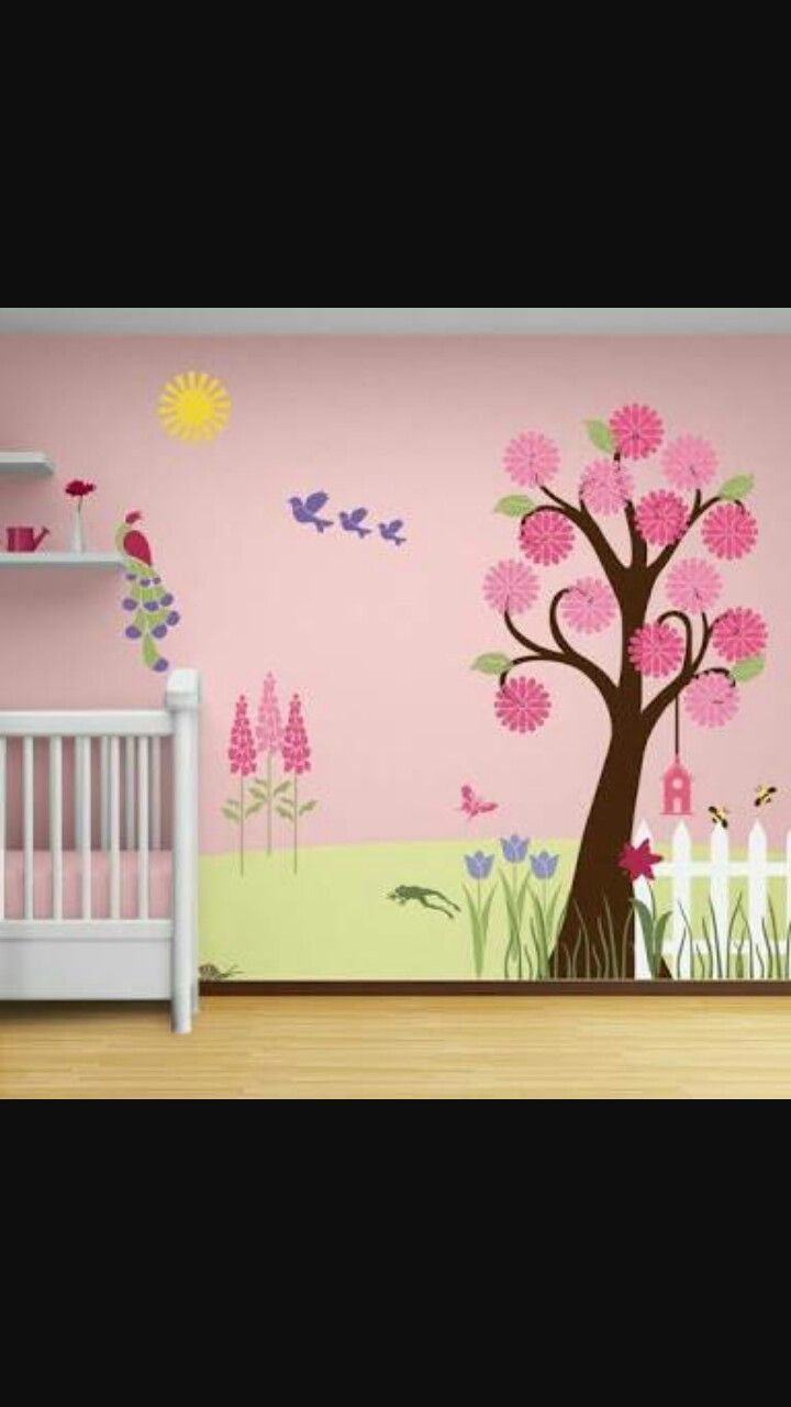 29 best color me purple images on pinterest royal design wall splendid garden wall mural stencil kit my wonderful walls amipublicfo Images