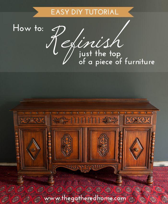 """For when you find that """"perfect"""" piece that needs a little help... I come across worn and damaged tops on furniture all the time in thrift stores and on Craigslist - they are NOT lost causes! You can refinish just the top and make it look like new!"""