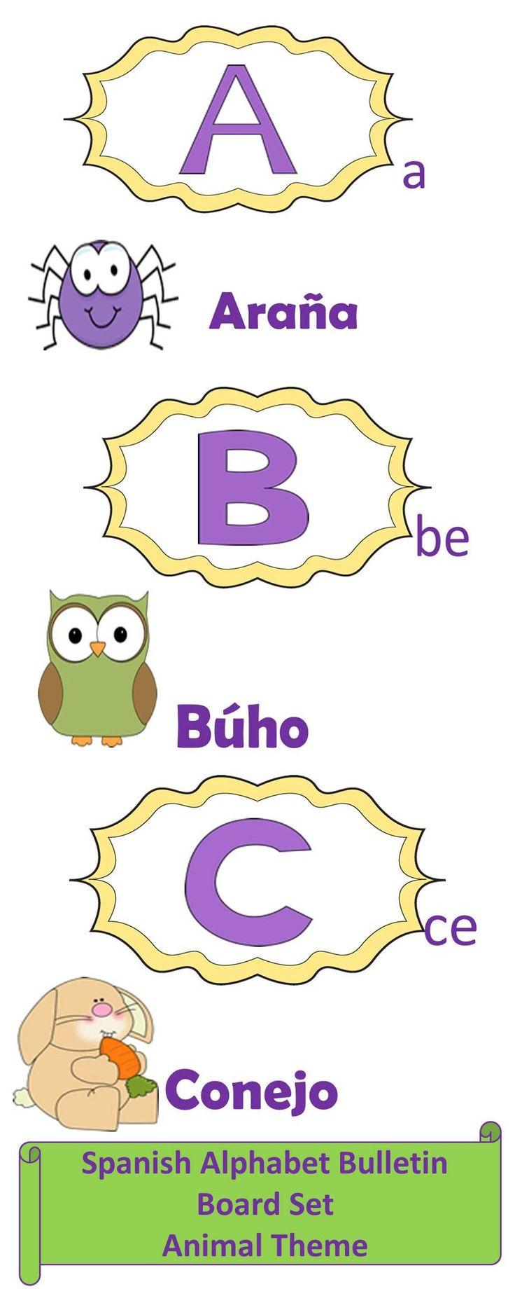 Spanish Alphabet Bulletin Board Set-Animal Theme