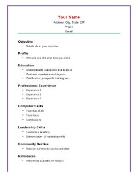 22 Best Basic Resume Images On Pinterest Resume Templates