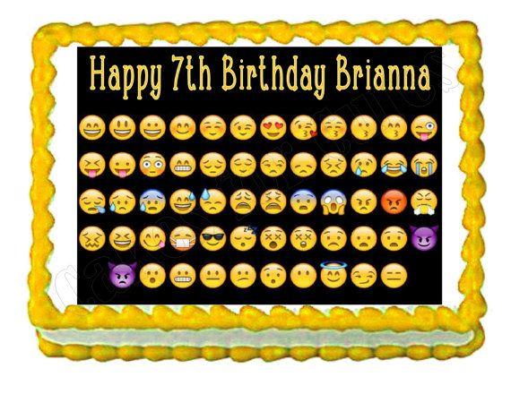 Emoji edible cake image cake topper frosting sheet
