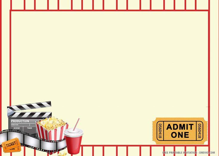 FREE Printable Movie Ticket Party Invitation Template
