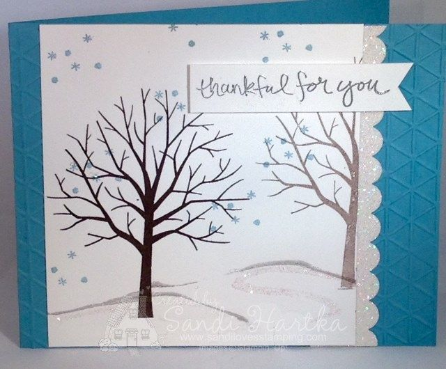 Stampin'Up! Sheltering Tree, hand-stamped greeting cards, hand stamped cards, birthday cards, thinking of you cards, thank you cards, sandihartka@sandilovesstamping.com