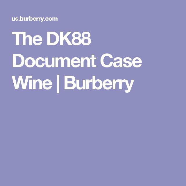 The DK88 Document Case Wine   Burberry