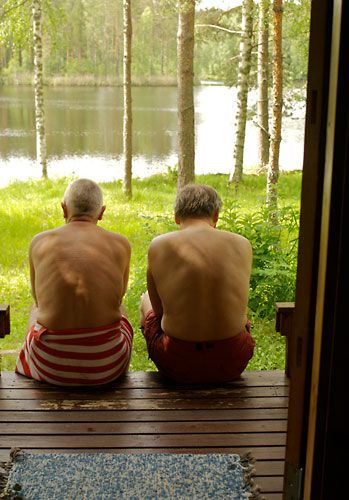 Seeking the real Finnish sauna - thisisFINLAND. The perfect Finnish sauna experience includes a scenic waterside setting.