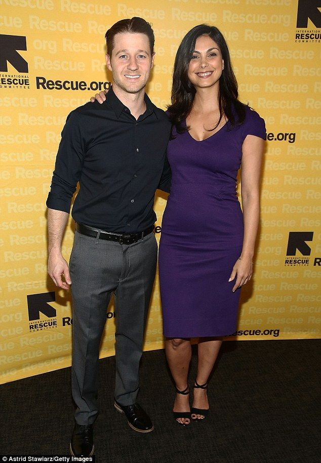 New parents: Morena Baccarin and her leading man on and off-screen Ben McKenzie transformed the IRC GenR summer bash into a child-free daytime date in Manhattan on Tuesday