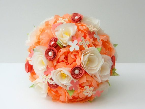Paper Wedding Flower Bouquet