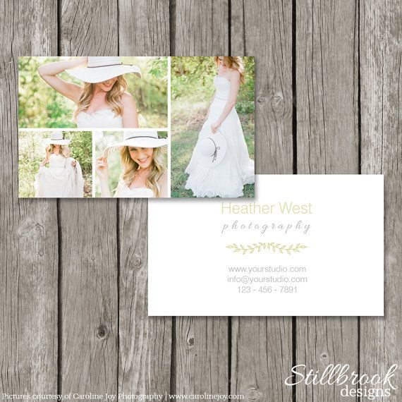 Photography Business Card Template  Simple by StillbrookDesigns, $10.00