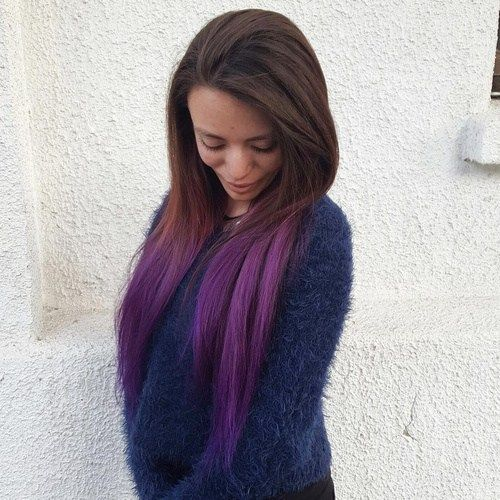 silver hair styles pictures best 25 purple dip dye ideas on purple tips 6376