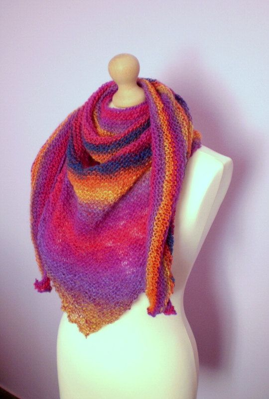 Handmade knitted scarf/ shawl / made to order by katerinaki106, $40.00