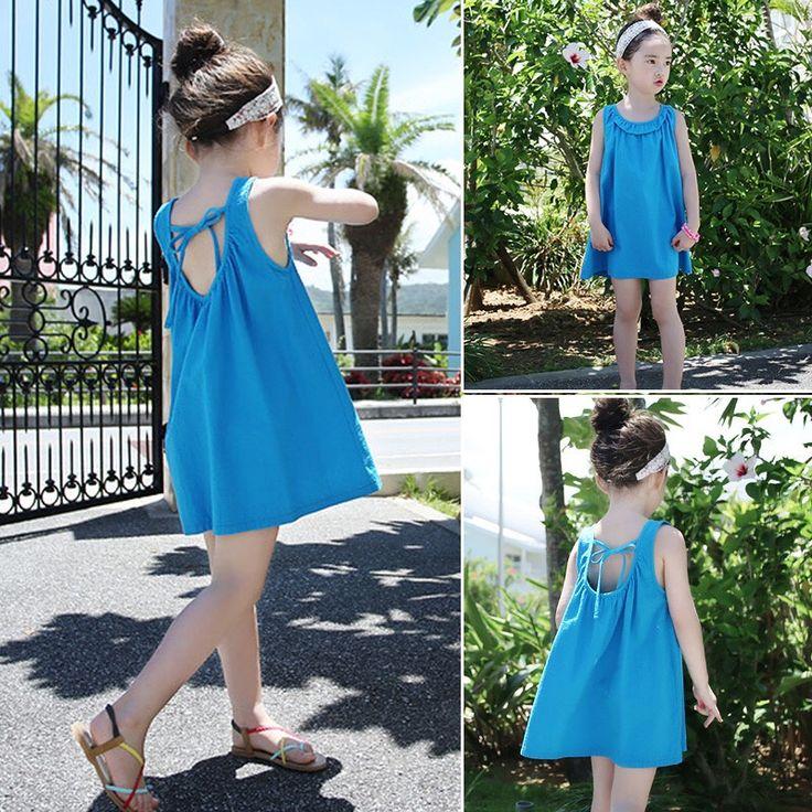 GL1022 2017 SS Trendy Girl's Fashion Open Backed Dress