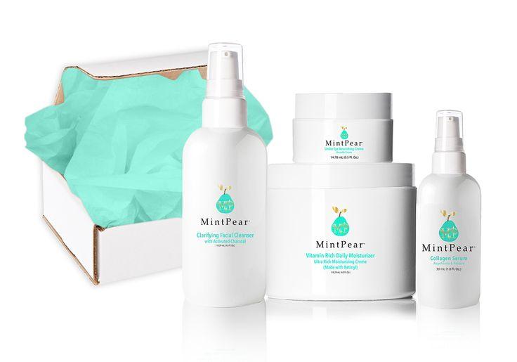 MintPear Daily Skin Routine + Collagen Serum