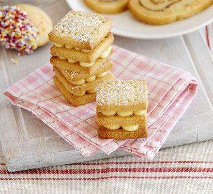 Custard kisses... Try a homemade version of these old-school favourites for a comforting afternoon tea... Prep: 30 mins... Cook: 8 mins - 10 mins... Skill leve Easy... Servings Makes 15-25...