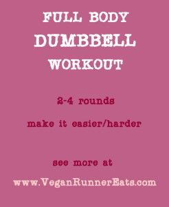 Full-Body Dumbbell Workout for All Fitness Levels, at the Gym or at Home. | Vegan Runner Eats