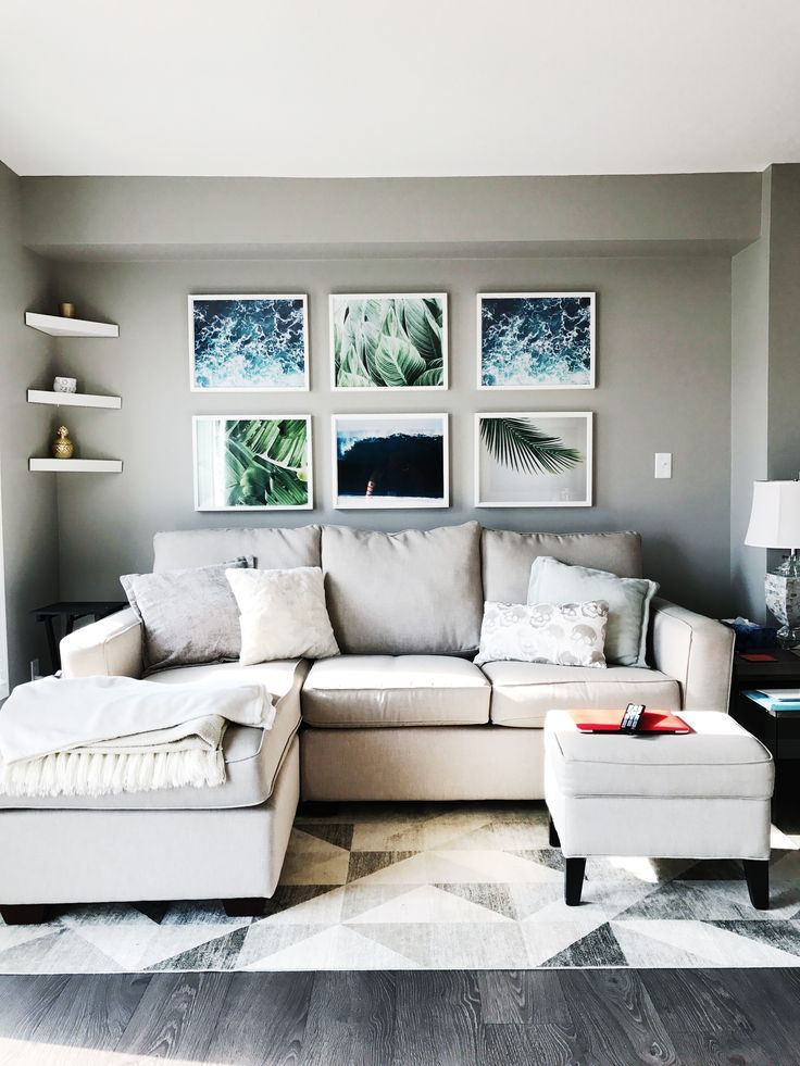 Gallery Wall above couch. Tropical Vibes – #abovec…