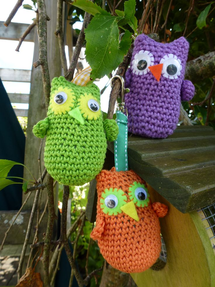 We crocheted these owls from the Craftseller Magazine pattern
