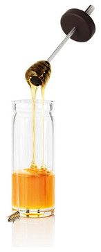 Desa Honey Glass with Silicon Spoon contemporary food containers and storage
