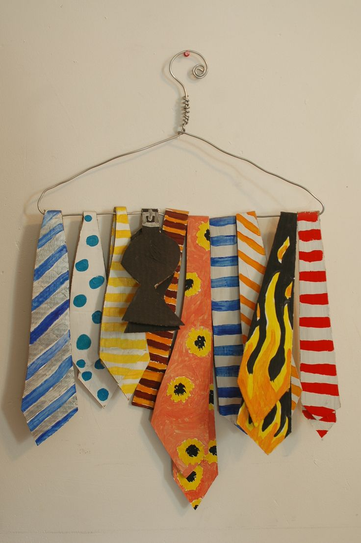Ties cardboard painted with acrylic. $350
