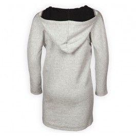 Molo jurk grijs paard Callie achterkant - Overgangscollectie zomer 2014 / winter 2014.