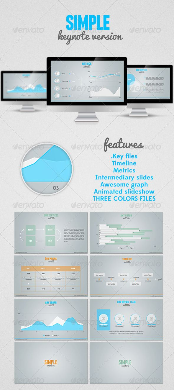 SIMPLE Keynote presentation - GraphicRiver Item for Sale